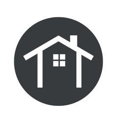 Monochrome round cottage icon vector