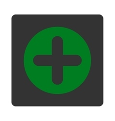 Create flat green and gray colors rounded button vector