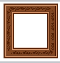 Vintage retro frame with foliage vector