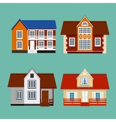 House set group private residential vector