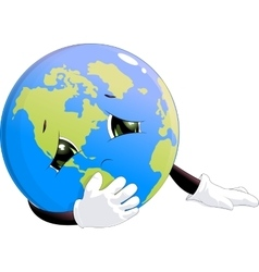 earth is sick vector image