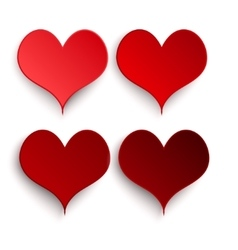I love you Set Valentines Day vector image