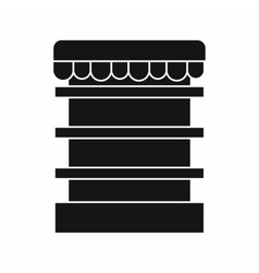 Empty supermarket refrigerator icon simple style vector