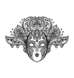 Abstract beautiful mask of lace vector