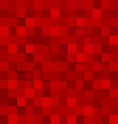 Abstract square red background vector image