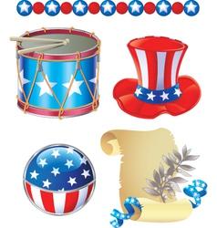 American 02 vector image