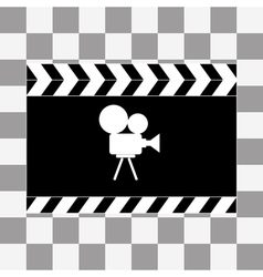 Art film clapper board icon vector