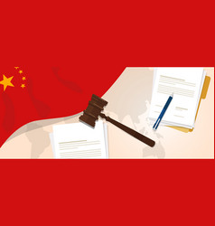 china law constitution legal judgment justice vector image