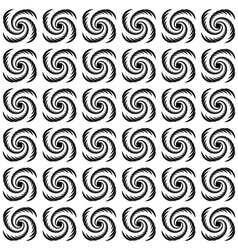 Design seamless uncolored wave pattern vector image vector image