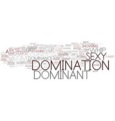 Domination word cloud concept vector