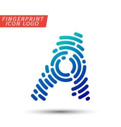 Fingerprint logo font 01 vector