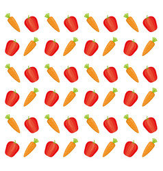 fresh and healthy vegetable vector image vector image