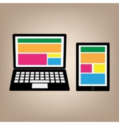 Fully responsive web gadgets vector