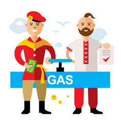 gas pipeline russia - ukraine flat style vector image vector image