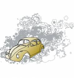 groovy bug illustration vector image vector image