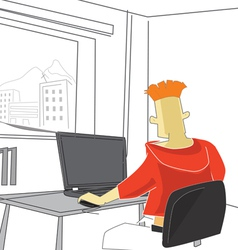 guy with notebook vector image