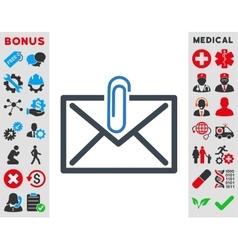 Mail attachment icon vector