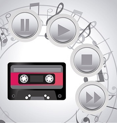 Music player design vector