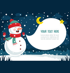 Of winter scene vector