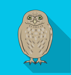 owlanimals single icon in flat style vector image vector image