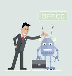 robot office businessman vector image vector image