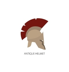 Roman helmet isolated on white vector