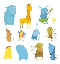 Set of Animals Cartoon vector image vector image