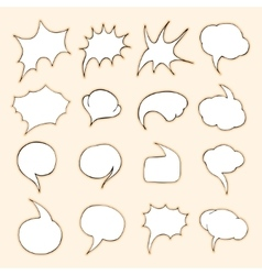 Set of Bubbles vector image vector image