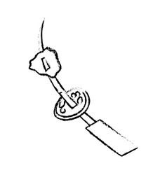 Sketch skewer beef picnic vector