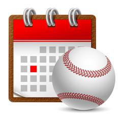 Sport calendar vector
