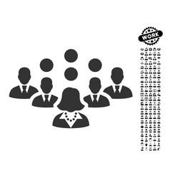 Staff team icon with men bonus vector