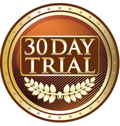 thirty day trial icon vector image vector image