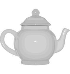 white teapot vector image vector image