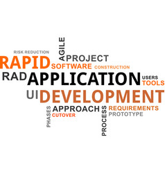 Word cloud - rapid application development vector