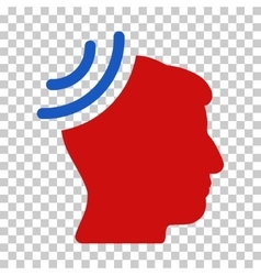 Radio reception brain icon vector