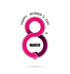 International womens day icon vector