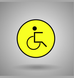 Disabled person signman on wheelchair symbol vector