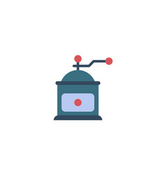Flat icon mocha grinder element vector