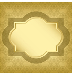 Golden frame with golden texture vector