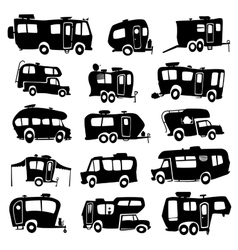 Recreational vehicles icons vector