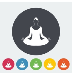Yoga flat icon vector