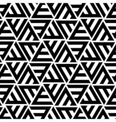 Abstract striped triangular seamless pattern vector