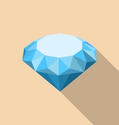 Flat icon of diamond with long shadow vector
