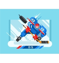 Hockey player character vector