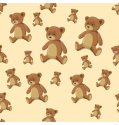 Seamless background teddy bear toy vector