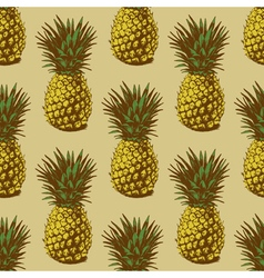 Seamless pineapple vector