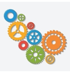 Industrial wheel with colors design vector
