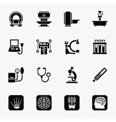 Medical diagnostic icons set vector image