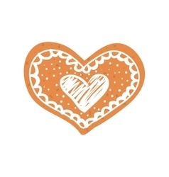 Heart cookie icon love design graphic vector