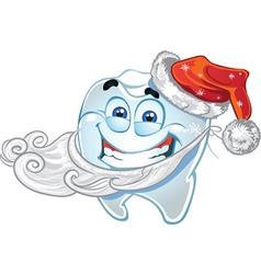 Teeth in suit Santa Claus vector image